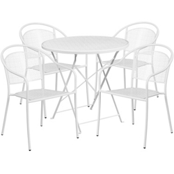 "28"" Folding Table and Four Armchairs, 86312"