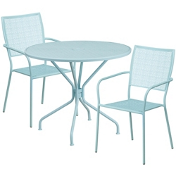 "35.25"" Table and Two Armchair Set, 86325"