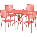 "35.25"" Table and Four Armchair Set, 86326"