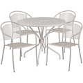 "35.25"" Table and Four Armchair Set, 86328"