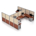 "144""x144"" Dual Shared Workstation, 22578"