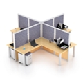 "144""x144"" Four Workstation Set, 22579"
