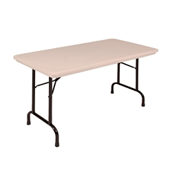 "Lightweight Plastic Folding Table - 48""W x 24""D, 46064"