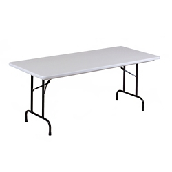 "Lightweight Plastic Folding Table - 72""W x 30""D, 46066"
