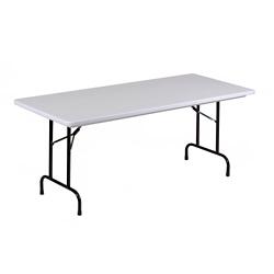"Lightweight Plastic Folding Table - 96""W x 30""D, 46067"