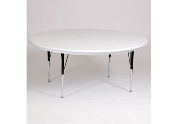 "Blow Molded Plastic Adjustable Activity Table 60"" Round, 46627"