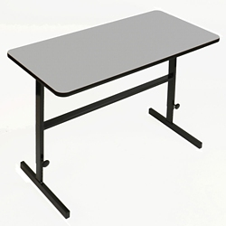 "Workstation with Manual Height Adjustment - 60""W x 30""D, 60089"