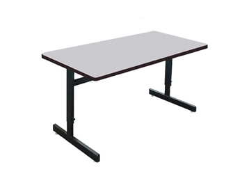 "Adjustable Height Training Table 24""D x 48""W , 47007"