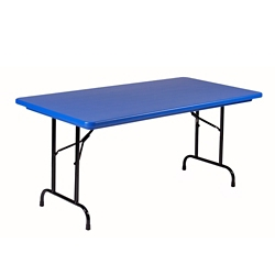 "Lightweight Plastic Folding Table - 30"" x 60"", 92190"