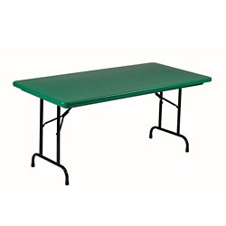"Lightweight Plastic Folding Table - 24"" x 48"", 92189"