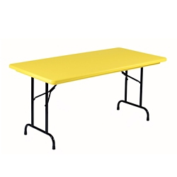 "Lightweight Plastic Folding Table - 30"" x 72"", 92191"