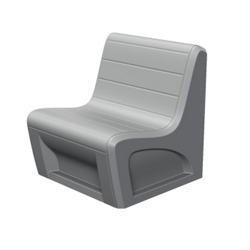 Durable Polypropylene Lounge Chair - 1500 lb Capacity, 75780