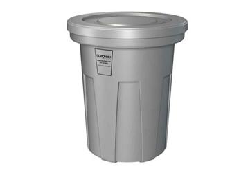 40 Gallon Fire Retardant Heavy Duty Waste Receptacle, 87101