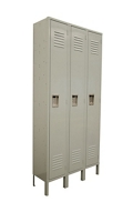 "Three Wide Locker - 54""W x 18""D x 78""H, 36871"
