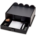 23 Piece Faux Leather Conference Room Accessory Set with Drawer Organizer, 91482