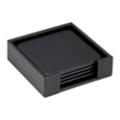 Square Faux Leather Coaster Set, 82647