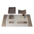 Seven Piece Italian Patent Leather Desk Accessory Set, 82637