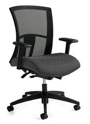 Mid-Back Synchro-Tilter Mesh Back Task Chair, 57216