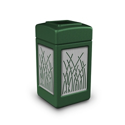Waste Receptacle with Reed Design - 42 Gallon, 82375