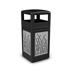 Dome Lid Waste Receptacle with Reed Design - 42 Gallon , 82379