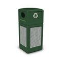 Decal Recycling Receptacle with Horizontal Design - 42 Gallon, 82388