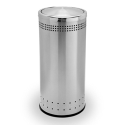 Round Flip Door Waste Receptacle - 15 Gallon, 87255