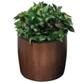 "Wood Look Planter - 21"" Diameter, 87509"