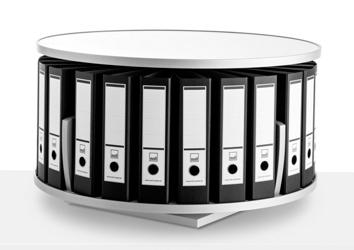 Desktop Binder Carousel with 1 Tier, 31431