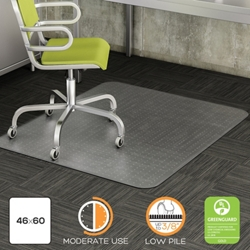 "Commercial Quality Chair Mat 45""W x 53""D for Carpet Floors, 54480"