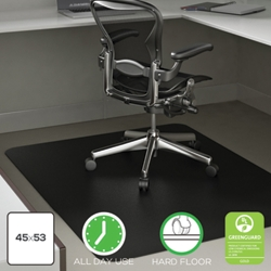 "Classic Chair Mat 45""W x 53""D for Hard Floors, 54489"