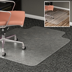 "All Surface Chair Mat with Lip 45""W x 53""D for Hard or Carpet Floors, 54492"