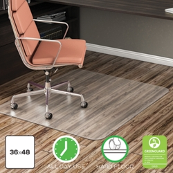 "Classic Chair Mat 36""W x 48""D for Hard Floors, 54483"