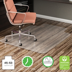 """Chair Mat with Lip 45""""W x 53""""D for Hard Floors, 54484"""