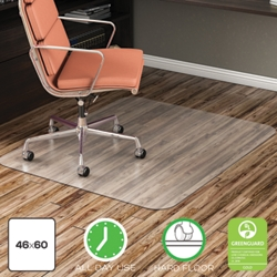 "Classic Chair Mat 46""W x 60""D for Hard Floors, 54485"
