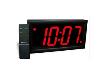 "Jumbo LED Alarm Clock with 4"" Red Numerals, 82749"