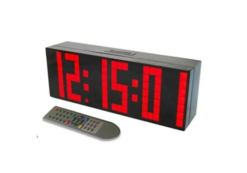 "Large Display LED Clock with 3"" Numerals - 10""W, 82750"
