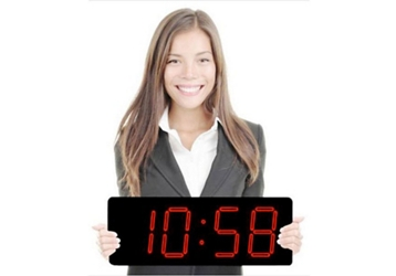 """Laser LED Clock with 5"""" Red Numerals - 20""""W, 82752"""