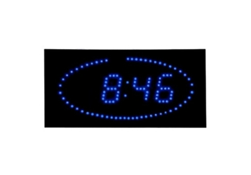 "Blue Dot LED Clock 16"" x 8"", 82756"