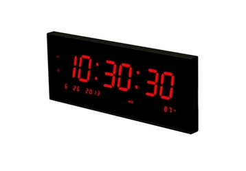 "Multi-Alarm LED Clock with Temp and Calendar - 20""W, 82758"