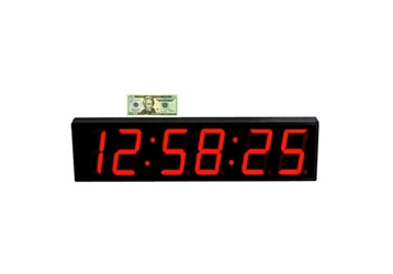 "LED Timer Clock with 5"" Numerals - 35""W, 82760"