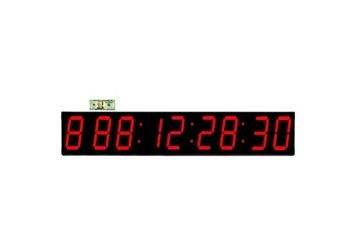 """Event LED Clock 7"""" Timer and Stopwatch - 54""""W, 82762"""
