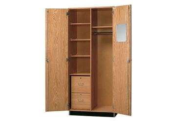 "Lockable Laboratory Wardrobe Storage Cabinet - 36""W, 36529"