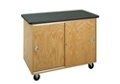 "Flat Top Mobile Laboratory Table with Storage - 48""W, 36534"