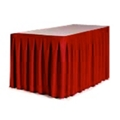 "Accordion Style Table Skirting - 108"" x 29"", 80430"
