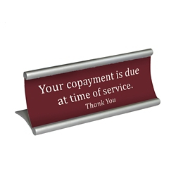 "Desktop Sign Frame - 6""W x 1.97""H, 82852"