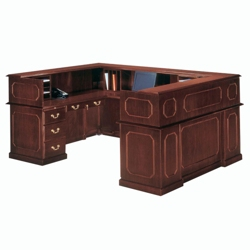 Traditional Reception U-Desk with Right Return, 13294