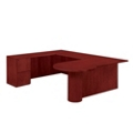 "Peninsula U Desk with Left Return - 72""W x 104""D, 13622"