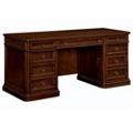 "Traditional Veneer Kneehole Credenza - 66""W x 24""D, 13695"