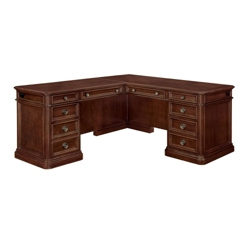 "Traditional Veneer Executive L Desk with Left Return - 72""W x 84""D, 13706"