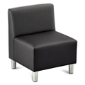 Riverside Armless Solid Fabric or Faux Leather Chair, 53647